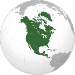 North America: Continent entirely within the Northern Hemisphere and almost all within the Western Hemisphere
