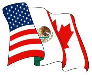 North American Free Trade Agreement: Trade agreement signed by Canada, Mexico, and the United States