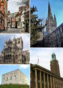 Norwich: City and non-metropolitan district in England
