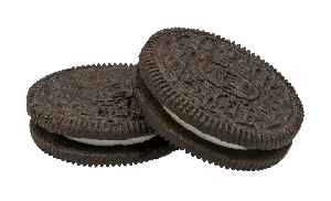 Oreo: Chocolate sandwich cookie with creme filling.