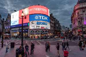 Piccadilly Circus: Road junction and public place in London, England, UK