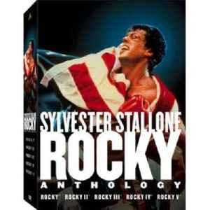 Rocky (film series): Boxing saga of popular films all written by and starring Sylvester Stallone as Rocky Balboa.