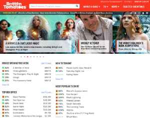 Rotten Tomatoes: American review aggregator for film and television, owned by Fandango