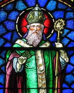 Saint Patrick: Primary Christian patron saint of Ireland, a 5th-century Romano-British missionary and bishop
