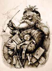 Santa Claus: Folkloric figure, said to deliver gifts to children on Christmas Eve
