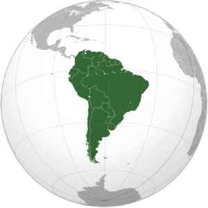 South America: A continent in the Western Hemisphere, and mostly in the Southern Hemisphere