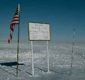 South Pole: Southern point where the Earth's axis of rotation intersects its surface
