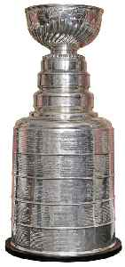 Stanley Cup: Championship trophy awarded annually in the National Hockey League