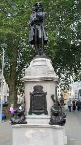 Statue of Edward Colston: Statue in Bristol, England, toppled 2020