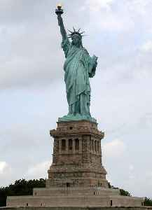 Statue of Liberty: Colossal neoclassical sculpture on Liberty Island in New York Harbor