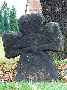 Stone cross: Christian monument made of stone