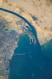Suez Canal: Canal in Egypt between the Mediterranean Sea and the Red Sea