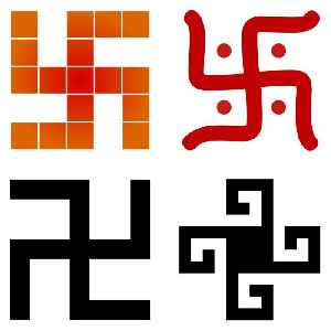 Swastika: A geometrical figure and an ancient religious icon in the cultures of Eurasia and 20th-century symbol of Nazism