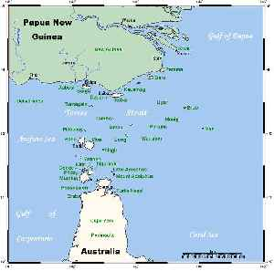 Torres Strait: Strait which lies between Australia and the Melanesian island of New Guinea
