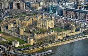 Tower of London: A historic castle on the north bank of the River Thames in central London
