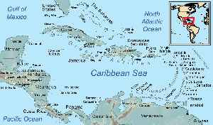 West Indies: Island region of the North Atlantic Ocean and the Caribbean