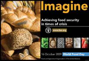 World Food Day: Annual Celebration in honor of founding of Food and Agriculture Organization of UN in 1945