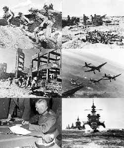 World War II: 1939–1945 global conflict between the Axis and the Allies