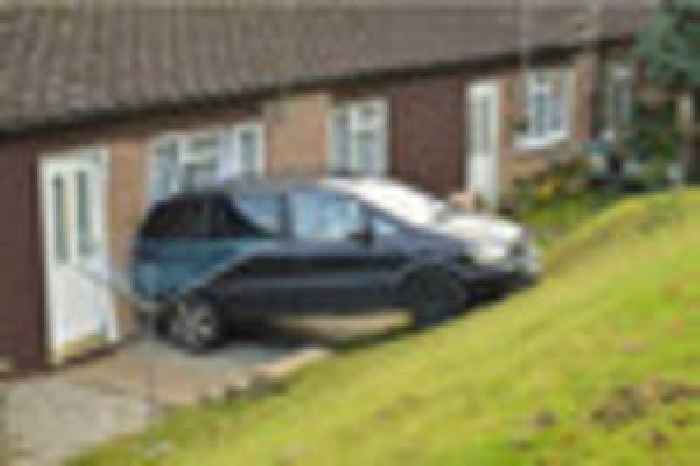 this car crashed into a house in bodmin and narrowly missed an one news page. Black Bedroom Furniture Sets. Home Design Ideas