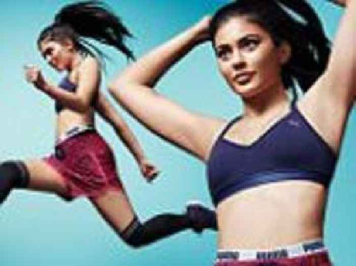 34fcd367f58 Kylie Jenner dons sports bra and tiny shorts for Puma - newsR