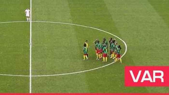 Women's World Cup 2019: 'Extraordinary scenes' - Distraught Cameroon delay restart after VAR review