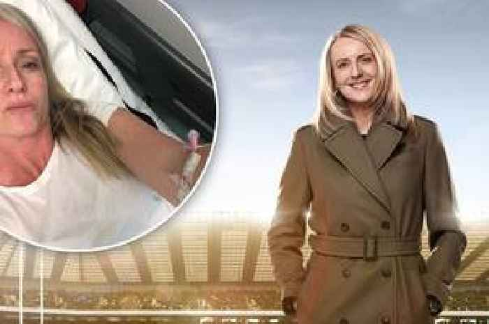 BBC rugby journalist Sonja McLaughlan left unable to move after horror fall down stairs