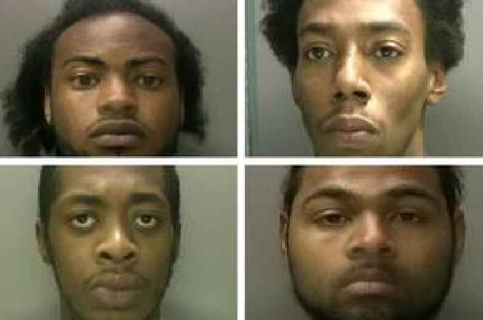 The despicable gang who held a knife to a baby's throat during a violent robbery