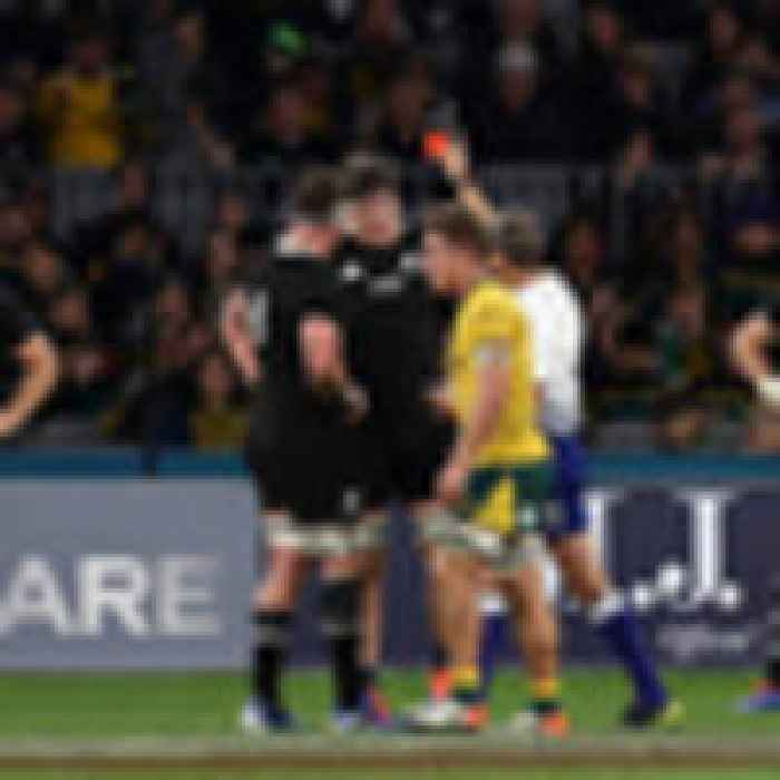 Bledisloe Cup rugby: Controversial red card stains Wallabies' stunning win over All Blacks