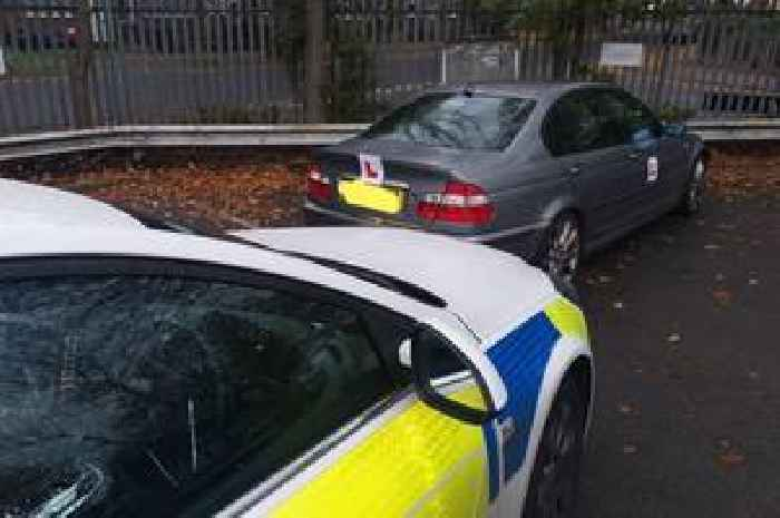 Cops called to deal with 'stupid'  learner driver who fails his test for ninth time