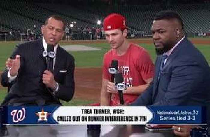 Trea Turner joins MLB on FOX crew at the desk following Game 6 win
