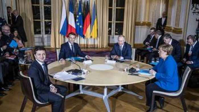 Ukraine And Russia Presidents Meet Face To Face For Peace Talks