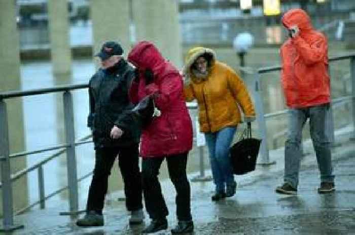 Storm Brendan hits Birmingham - trampoline blown onto rail tracks, hailstones lash city and roads flooded