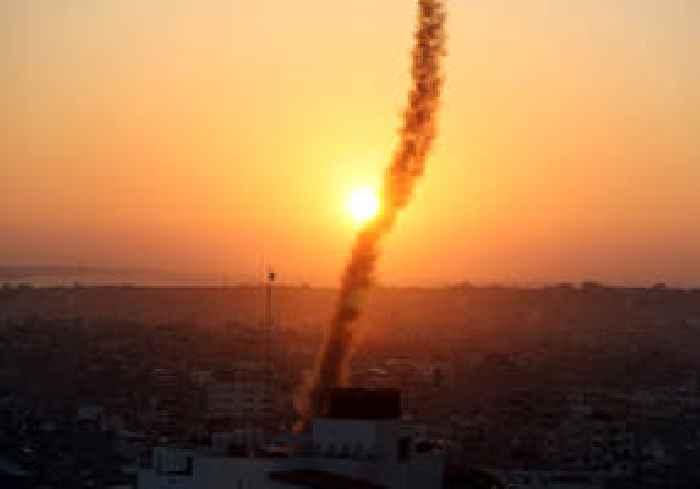 Israeli Air Force strikes in Gaza Strip following rocket attack on Israel