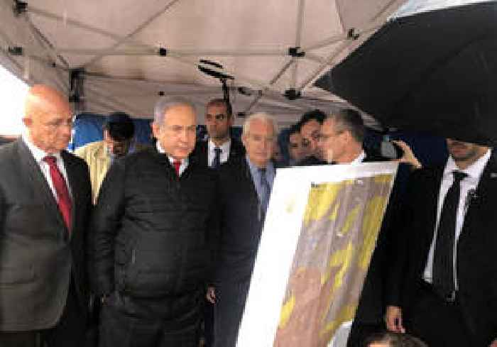 Netanyahu and US Ambassador Friedman tour West Bank Ariel settlement