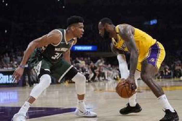 LeBron James' 37 points leads Lakers past Giannis Antetokounmpo's Bucks