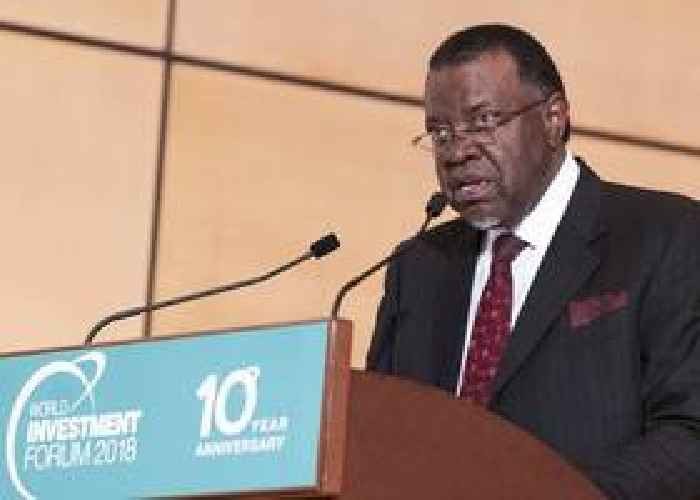 Namibian president sworn in for 2nd term on independence day