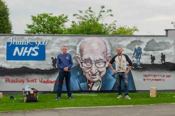 The graffiti artist who produced Tamworth's tribute to Captain Tom Moore