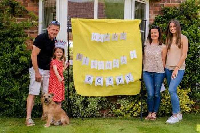 Villagers give Poppy a lockdown birthday to remember