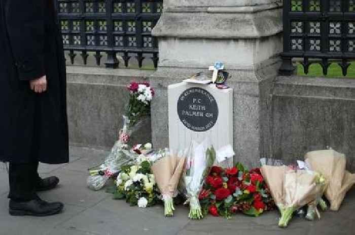 Man arrested on suspicion of urinating on memorial to police hero