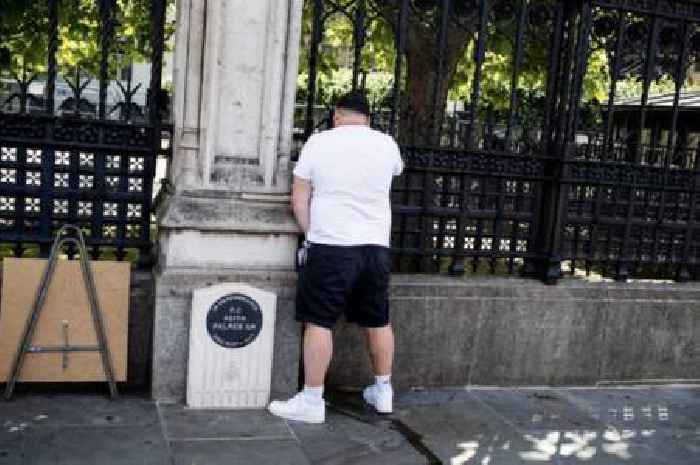 Man charged after urinating next to PC Keith Palmer memorial amid protest