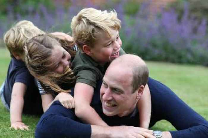 Prince William and his children grin with delight in new Father's Day pictures