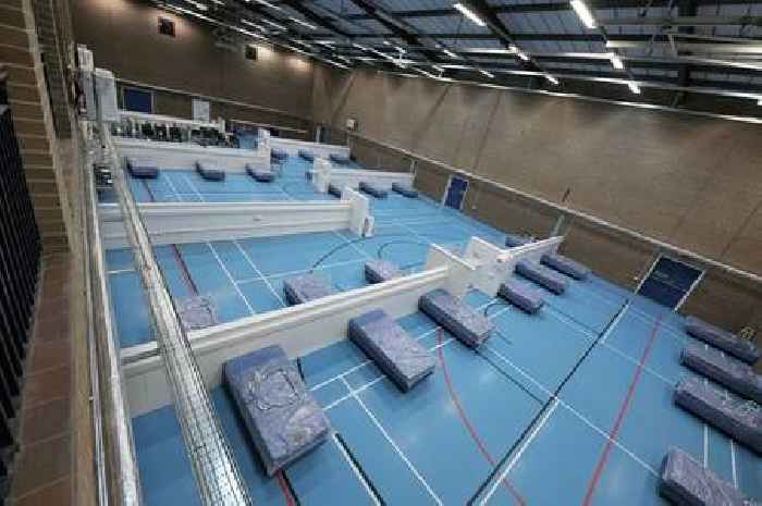 Field hospital set up at a Welsh leisure centre has welcomed its first patients