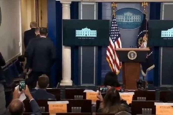 Watch Trump Be Evacuated From Press Conference After Shooting Near White House (Video)