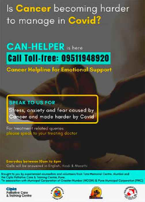 Helpline for cancer patients in COVID times