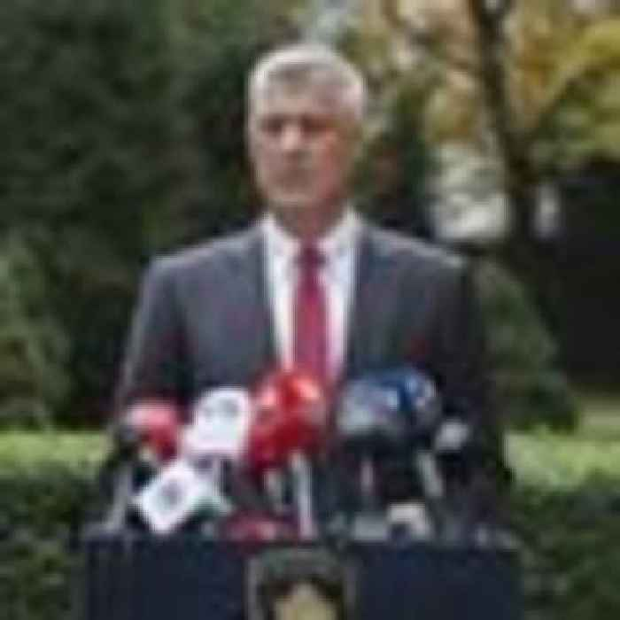 President of Kosovo resigns to face war crimes charges