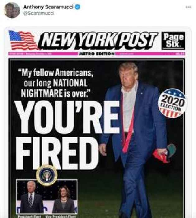Fake New York Post Cover Telling Trump 'You're Fired' Goes Viral — Here's the Real One