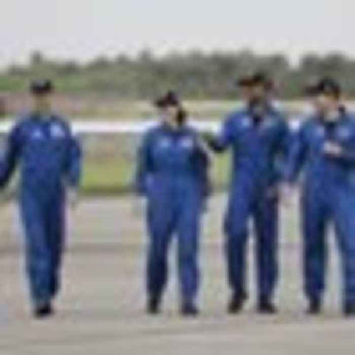 Astronauts arrive at launch site for second SpaceX crew flight