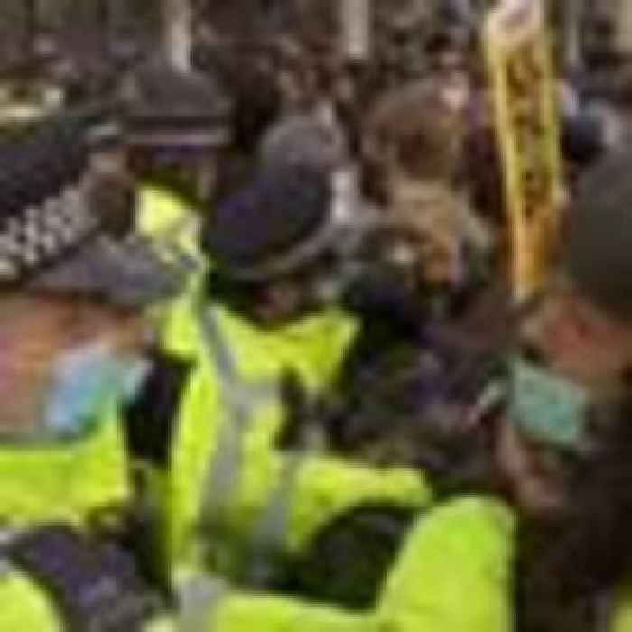 Police and demonstrators clash at 'Kill the Bill' protest in central London