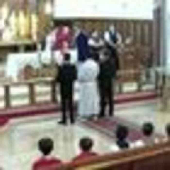 Police shut down Good Friday church service and threaten worshippers with fines