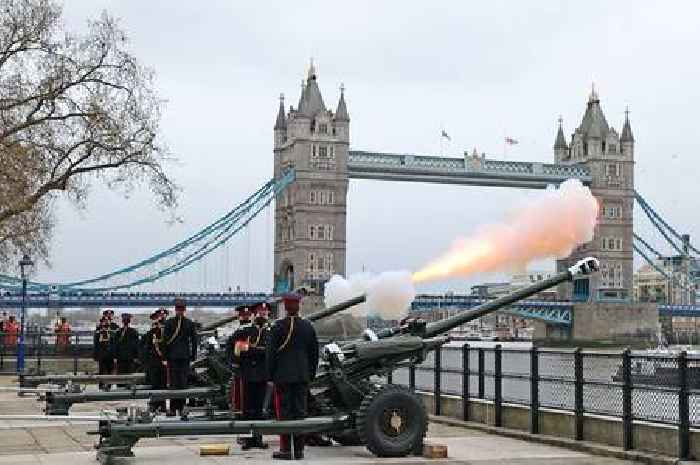 Gun salutes across UK mark Duke of Edinburgh's death